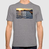 Sittin on the Dock of the Bay Mens Fitted Tee Tri-Grey SMALL
