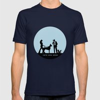 cats and dogs Mens Fitted Tee Navy SMALL