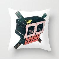Brick Crossbones And A B… Throw Pillow