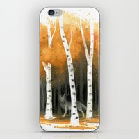 Autumn Wolf iPhone & iPod Skin