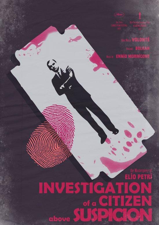 Investigation of a Citizen above Suspicion - Italian Masterpiece Movie Poster Art Print