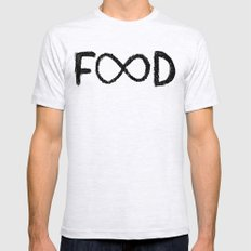 FOOD Mens Fitted Tee Ash Grey SMALL
