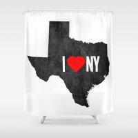 I (Heart) TX Shower Curtain