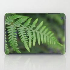 green fern leaves. floral nature wild plant photography. iPad Case
