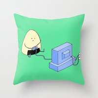 Onigiri video games! Throw Pillow