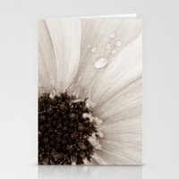 Flower with droplets Stationery Cards