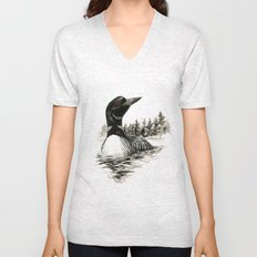 North Shore Loon Unisex V-Neck