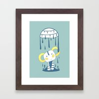 Melting Framed Art Print