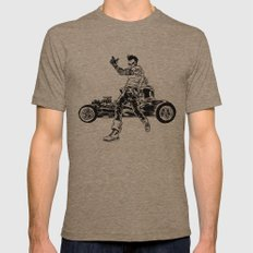 Dead Racer Mens Fitted Tee Tri-Coffee SMALL