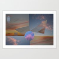 Clouds•triangles And C… Art Print