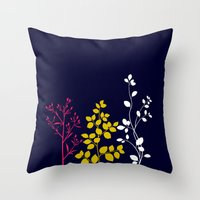 Bloom- Plain Throw Pillow