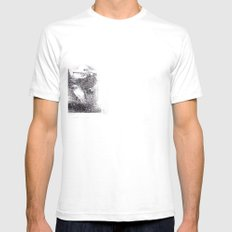 Please don't disappear White Mens Fitted Tee SMALL