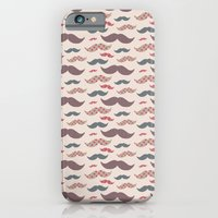 iPhone & iPod Case featuring Mustache pattern by Gal Ashkenazi