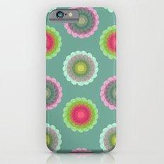 transparent floral pattern 3 Slim Case iPhone 6s