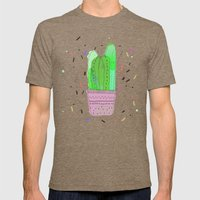 CACTUS CACTUS Mens Fitted Tee Tri-Coffee SMALL
