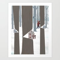 A Tree In The Forest Art Print