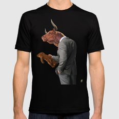 Bull Mens Fitted Tee Black SMALL