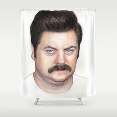 Ron Swanson Shower Curtain