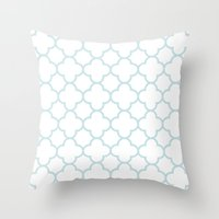 MOROCCAN {LIGHT BLUE} Throw Pillow