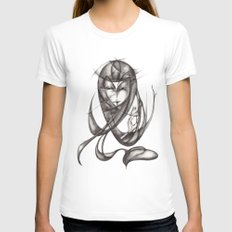 Ace Womens Fitted Tee White SMALL