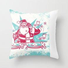 Funky Santa Throw Pillow