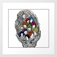 Face Your Brain  Art Print