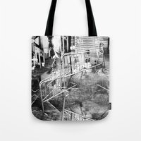 Summer space, smelting selves, simmer shimmers. 21, grayscale version Tote Bag