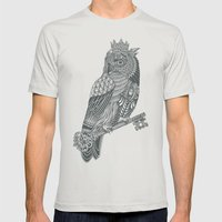 Owl King Mens Fitted Tee Silver SMALL
