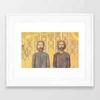 Bearded Men Framed Art Print