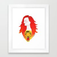 Roaring Fire Framed Art Print