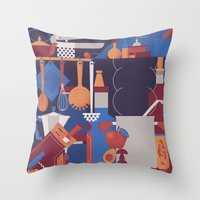Throw Pillow featuring The Kitchen by Andrea Manzati