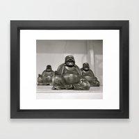 Laughing Buddah Framed Art Print