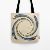Flower Globe Bubble on Wood Tote Bag