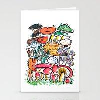 Fungi family Stationery Cards