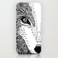 iPhone & iPod Case featuring wolf like me by Clare Corfield Carr