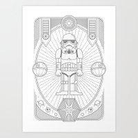 Stormtrooper Jam Art Print