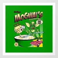 Mogwai's Breakfast the after midnight snak Art Print