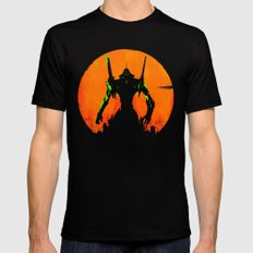 Evangelion Black Mens Fitted Tee SMALL