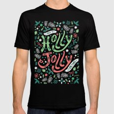 Have a Holly Jolly Christmas  Mens Fitted Tee Black SMALL