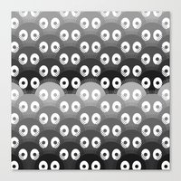 susuwatari pattern Canvas Print