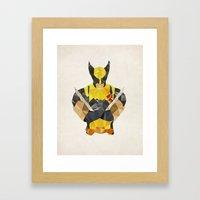 Polygon Heroes - Wolverine Framed Art Print