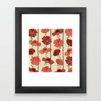 Hanging Poppy Garland Framed Art Print