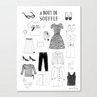 A Bout De Souffle Canvas Print