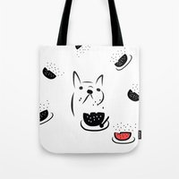 water melon frenchie Tote Bag