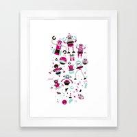Robots! Destroy! Destroy! Framed Art Print