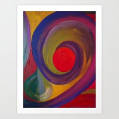Swirlie Art Print