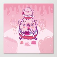 Jelly Bear Canvas Print