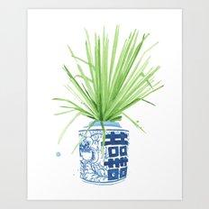 Ginger Jar + Fan Palm Art Print