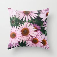 Throw Pillow featuring Cone Flowers by Whitney Retter