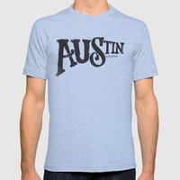 AUSTIN, TX Mens Fitted Tee Athletic Blue SMALL